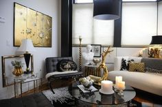 Black and white with gold.....Kelly Framel's pad