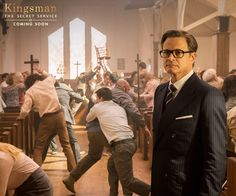 Colin Firth in 'Kingsman' There's rarely a good reason to wrinkle a bespoke suit. #Kingsman #MannersMakethMan pic.twitter.com/904zreH6J5