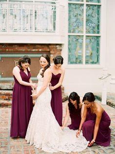 55 beautiful burgundy bridesmaid dresses for weddings ideas 25