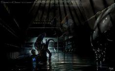 """xombiedirge: """"Aliens By Sam Denmark / Tumblr """""""