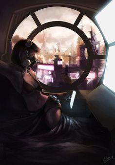 Cyberpunk girl 2 by Joseph Gai Yunhao Cyberpunk Girl, Cyberpunk 2077, Sci Fi Fantasy, Fantasy Girl, Bd Pop Art, Cyberpunk Aesthetic, Futuristic Art, Fantasy Pictures, Sci Fi Characters