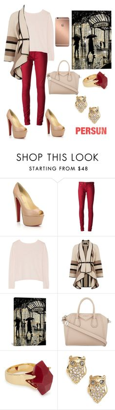 """""""persun"""" by pipinalad ❤ liked on Polyvore featuring Christian Louboutin, Yves Saint Laurent, Banjo & Matilda, Karen Millen, iCanvas, Givenchy, Lola Rose, Mura and Kate Spade"""