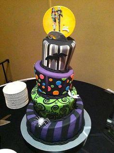 'Jack and Sally Wedding Cake'