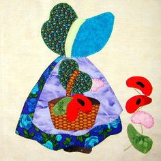 Eveline and 1001 Quilts: Swap - the next substances are in sight Sunbonnet Sue, Quilt Patterns Free, Applique Patterns, Applique Quilts, Quilting Projects, Quilting Designs, Sewing Projects, Girls Quilts, Baby Quilts