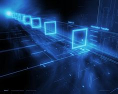 information technology background images   Technology Information Transfer Backgrounds for PowerPoint Template