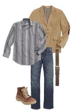 Nordstrom Blazer, Thomas Dean Dress Shirt & Cole Haan Boot (Big Boys) | Nordstrom