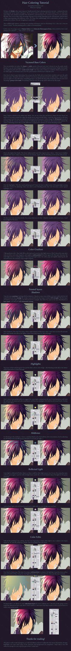 Hair Coloring Tutorial by MissNysha.deviantart.com on @deviantART