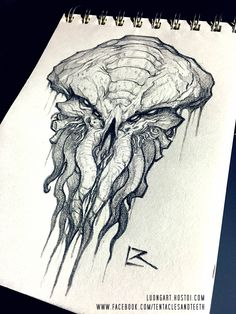 CTHULHU SKETCH by Richard Luong Reward sketches for the Cthulhu - Art of Richard Luong kickstarter campaign.