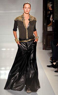 Balmain leather maxi skirt....whaaaaat?!