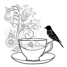 Stock vector of 'vector, clip, tea'