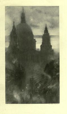 ST. PAUL'S AT DAWN. London impressions : etchings and pictures in photogravure; 1898. William Hyde