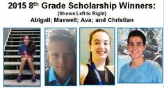WINNERS 2015 Scholarships - Headed to Educational Summer Camp Compliments of o2b Fun, Inc