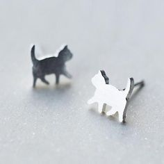 Cute Walking Cat Earrings- 925 Sterling Silver - Tap the link now to see all of our cool cat collections!