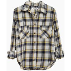 Isabel Marant Étoile Ugo Plaid Shirt (265 CAD) ❤ liked on Polyvore featuring tops, shirts, blouses, flannels, curved hem shirt, long sleeve plaid shirt, pleated top, tartan shirts and yellow long sleeve top