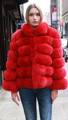 4f61c283b14 Warm My Heart Stunning Real Fox Fur Coat in 2019