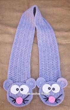 Resultado de imagen para bufandas ñiño con animalitos