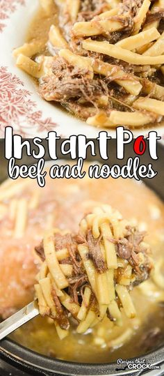 Instant Pot Beef and Noodles: Are you looking for an electric pressure cooker beef noodles recipe? This is our favorite one. Quick, easy and full of that old-fashioned flavor of this classic comfort food dish.
