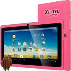 Zeepad 7DRKQ 4 GB Tablet  7  Wireless LAN  Allwinner Cortex A7 A33 180 GHz  Pink  512 MB RAM  Android 44 KitKat  Slate  800 x 480 Multitouch Screen Display  Bluetooth  7DRKQPINK *** See this great product.