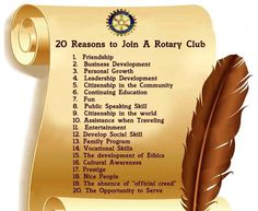 20 Reasons to Join a Rotary Club
