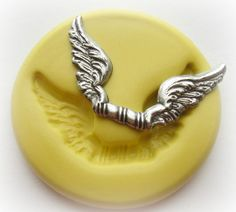 Wings Heart Mold Polymer Clay PMC Fondant Resin by WhysperFairy, $2.95