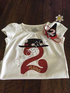 Mary Poppins themed birthday shirt by MadeForA on Etsy https://www.etsy.com/listing/275846464/mary-poppins-themed-birthday-shirt