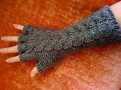 Ravelry: Half Finger Gorey Gloves pattern by Carrie Martin free pattern