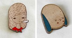 Panninkin brooches via Wee Birdy.