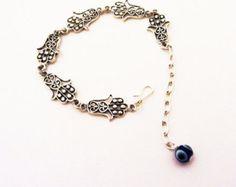 HAMSA with Evil Eye AMULET Bracelet by BellyDancePrincess