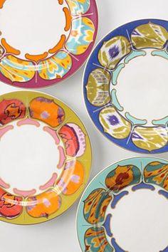 anthropologie colorful dinnerware