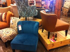Peacock Blue Chair At World Market, Oakland