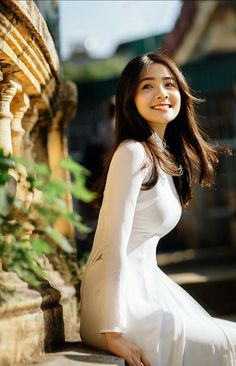 Ao Dai, Traditional Dresses, Asian Woman, White Dress, Sexy, People, Photography, Beauty, Collection