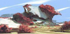 Landscape Concept, Fantasy Landscape, Landscape Art, Environment Sketch, Environment Design, Game Environment, Matte Painting, Fantasy Places, Fantasy World