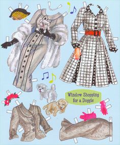 Outfits for window shopping for a little doggie. Page 3 of 8 Page book.