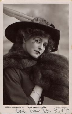 Gabrielle Ray, 1908 postcard by Rotary Photo