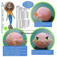 Амигуруми. Куколка Модница крючком (10)
