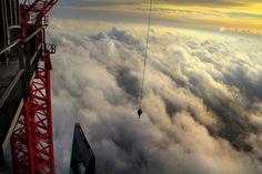 shanghai skyline clouds
