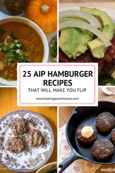 Get this list of AIP Hamburger Recipes here. Hamburgers are the perfect AIP-friendly food and this list has a recipe for every occasion.
