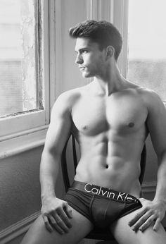 Calvin Klein male models underwear black and white