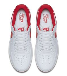 "Nike Air Force 1 Low QS ""Summit White & University Red"" (Detailed Preview Pics) - EU Kicks: Sneaker Magazine"