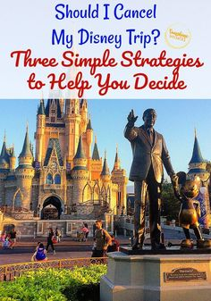 "Sunshine Whispers shares 3 simple strategies to help you decide whether or not to cancel your Disney World. You planned your perfect Disney vacation and then the unexpected happened: a global pandemic. Now you are left with the question, ""Should I cancel my Disney trip?"" Here are three simple strategies to help you make your decision. #disneyworld #disney #disneyvacation #familyvacation #familytraveltips"