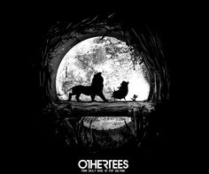 """""""Journey Amongst Friends"""" by FANFREAK T-shirts, V-necks, Sweatshirts and Hoodies are on sale until April 18th at www.OtherTees.com #tshirt #othertees #clothing #lionking #disney #movies"""