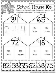 Counting to 100 Activities - Planning Playtime Kindergarten Math Activities, Word Work Activities, Kindergarten Math Worksheets, Maths, Daily Five Math, First Grade Crafts, Counting To 100, Math Centers, Writing Centers
