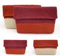 Two-tone crochet clutches | Anat Rodan Handmade. Heartfelt.