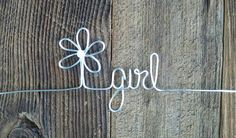 Wedding wire Hanger wire Hanger flower girl flower girl Hanger Wedding Hanger Custom Hanger Personalized Hanger name hanger (4.50 USD) by DistinctiveDesigns2