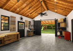 Show your garage some love this year. Have you been wanting to update and organize your garage? Now is the time! A little organization and a new ceiling fan can give a garage a complete makeover! Garage Renovation, Garage Interior, Garage Remodel, Garage Ceiling Fan, Finished Garage, Garage Office, Garage Lighting, Garage Workshop, Metal Workshop