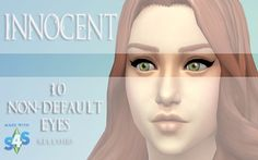 Innocent 10 Non-Default Eyes by kellyhb5 at Mod The Sims via Sims 4 Updates