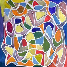 "www.stevenwmiller.com original paintings oil on canvas untitled 50x50"""