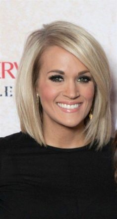 Hair cuts shoulder length ombre colour Ideas for 2019 - New Hair Cut Carrie Underwood Haircut, Carrie Underwood Makeup, Short Hairstyles For Women, Straight Hairstyles, Medium Bob Hairstyles, Formal Hairstyles, Bride Hairstyles, Hairstyle Ideas, Haircut Trends 2017