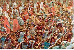 Hastatos romanos em combate