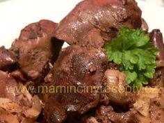 Cibulová játra s hořčicí Food And Drink, Beef, Kitchen, Diet, Meat, Cucina, Cooking, Kitchens, Ox